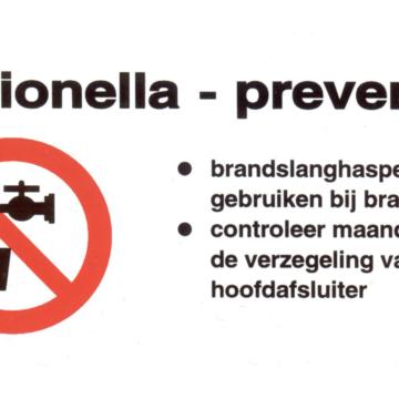 Let op! Legionella in de brandslanghaspel